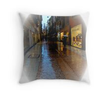 Wet Marble Streets of Verona II Throw Pillow