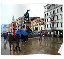 The Rain In Venice Poster