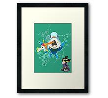 It's a Fish Eat Fish World Framed Print