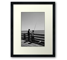 Young Fisherman - Myrtle Beach, South Carolina Framed Print