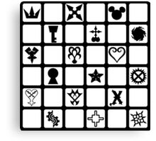 Kingdom Hearts Grid (Clear) Canvas Print