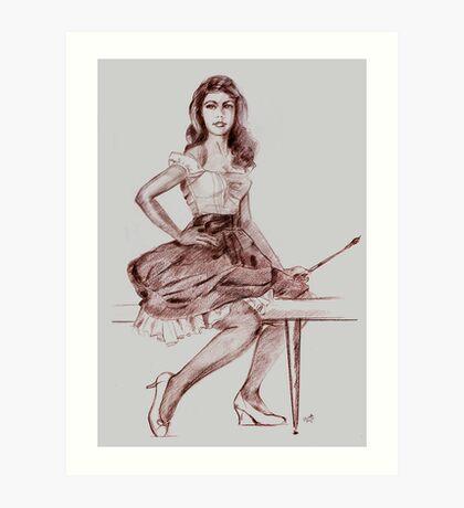 PIN UP ARTIST Art Print