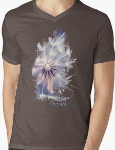 Dandelion Blue Mens V-Neck T-Shirt