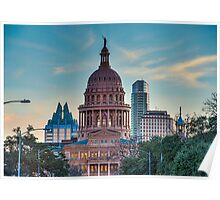 Texas Capital at Dusk Poster