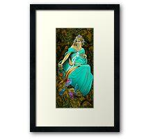 Mucha-style Framed Print