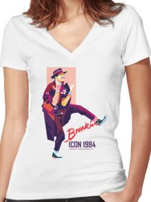 ICON 1984 Retro Women's Fitted V-Neck T-Shirt