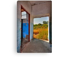 Empty doors Canvas Print