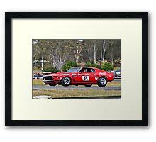 Allan Moffat Trans Am Mustang Framed Print