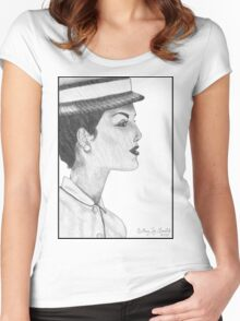 1950's Female: In Profile Women's Fitted Scoop T-Shirt