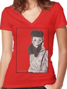 Spy Women's Fitted V-Neck T-Shirt