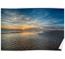 South Padre sunrise over the beach Poster