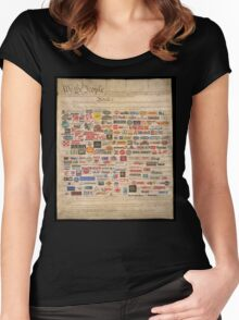 We the people  Women's Fitted Scoop T-Shirt
