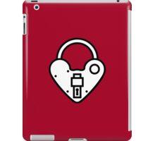 Loveheart Lock - love heart padlock iPad Case/Skin