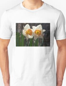 In Conversation - a Couple of Daffodils Huddled Together T-Shirt