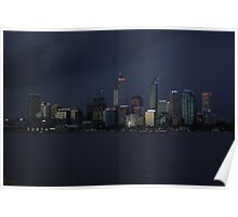 Perth Australia Just on dusk Poster