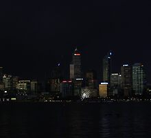 Perth Australia at night  by Kylie Wright