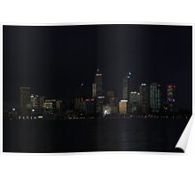 Perth Australia at night  Poster