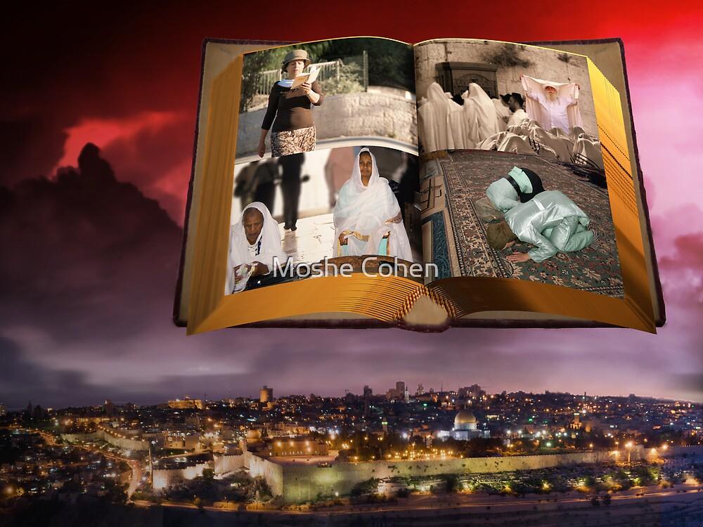 Jerusalem Praying by Moshe Cohen