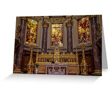 Germany. Berlin. Cathedral. Altar.  Greeting Card