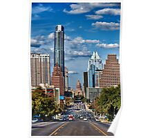Texas State Capital from south Congress in Austin Poster