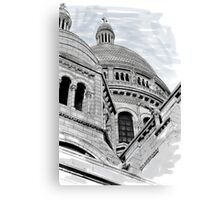 Sacre Coeur IV Pen and Ink Canvas Print