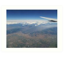 Flying High Above The Clouds Art Print