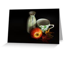 autumn tea party Greeting Card