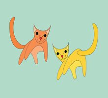 Jumpy Cats by Jean Gregory  Evans