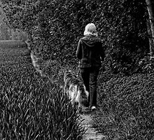 Walking the Dog by Karen  Betts