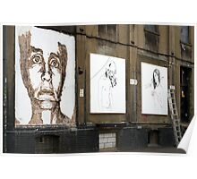 Chisel face by Vhils Poster