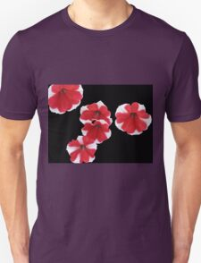 Red and White Petunias Unisex T-Shirt