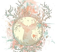 Dreamy Peach Nature Treestag by alyphoto