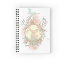 Dreamy Peach Nature Treestag Spiral Notebook