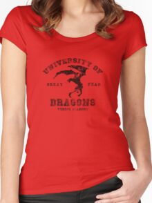 Summon A Dragon  Women's Fitted Scoop T-Shirt