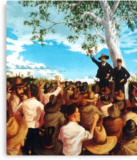 The Shearer's Strike - Barcaldine 1891 by Cary McAulay