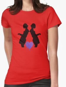 Black Silhouettes with Heart T-Shirt