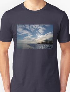 Brilliant Sunshine After the Snowstorm – a Winter Beach on Lake Ontario T-Shirt