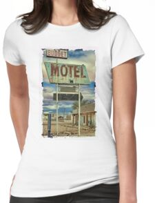 Route 66 Budget Motel Womens Fitted T-Shirt