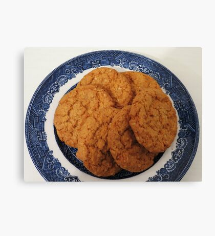Oat Flake and Honey Crunchy Biscuits Canvas Print