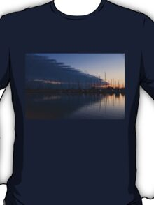 The Urge to Sail Away - Violet Sky Reflecting in Lake Ontario in Toronto, Canada T-Shirt