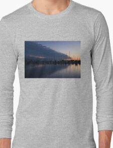 The Urge to Sail Away - Violet Sky Reflecting in Lake Ontario in Toronto, Canada Long Sleeve T-Shirt