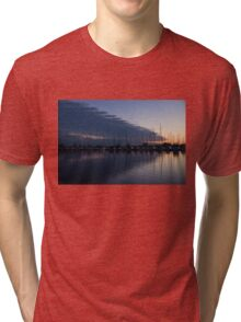The Urge to Sail Away - Violet Sky Reflecting in Lake Ontario in Toronto, Canada Tri-blend T-Shirt