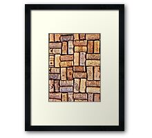 Cork Art Framed Print