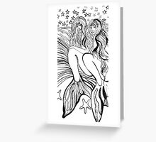 Star-Filled Sky and Mermaids – May 28, 2010 Greeting Card