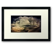 Portrait of a storm, Staffordshire, UK. Framed Print