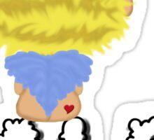 *Blonde Angel Sitting on Cloud Name* Sticker