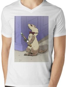Ferret Who Mens V-Neck T-Shirt