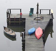 Boat Dock Grandview NY by Joseph G.  Zacco