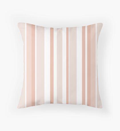 Bold Stripes - Peach Throw Pillow
