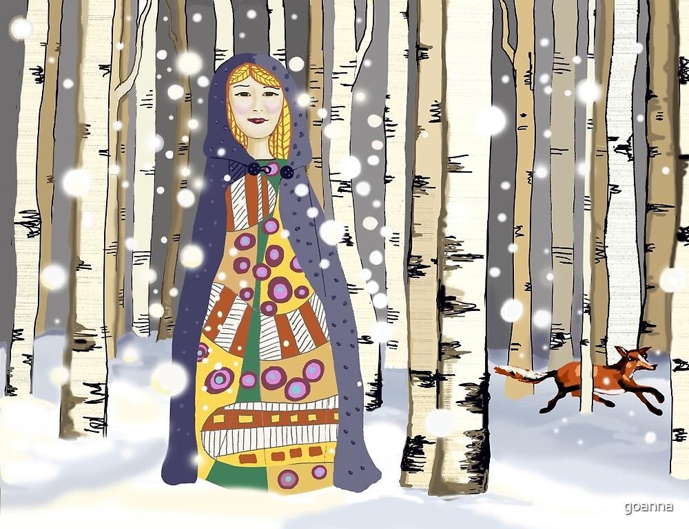 Winter in the birch woods by goanna
